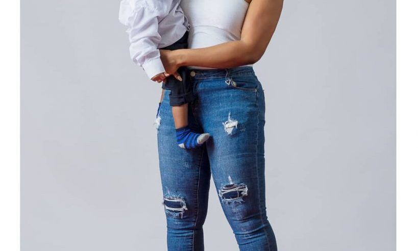 Laura Ikeji shares photos of her 8 days old baby as she resumes work