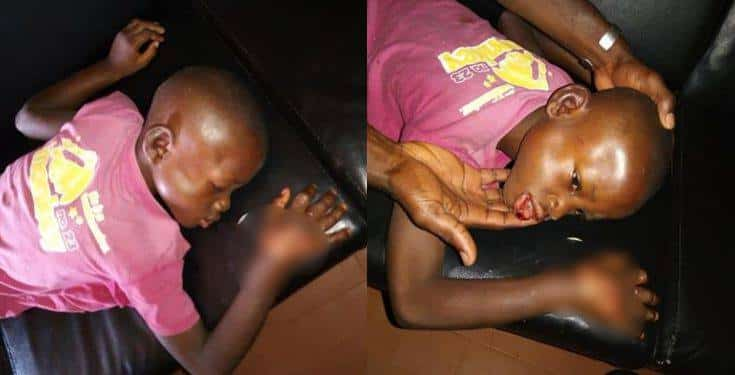Lady allegedly batters her fiance's young son with a log of wood in Anambra