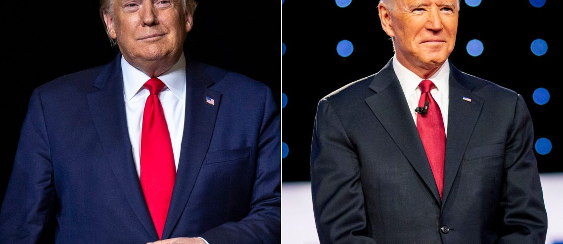 Joe Biden leading Donald Trump ahead of elections